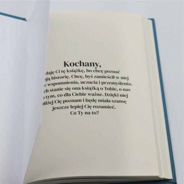 pierwsza strona książki dla niego