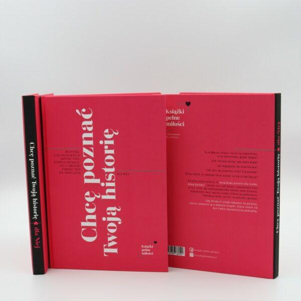 okładka książki dla niej - bok tył przód