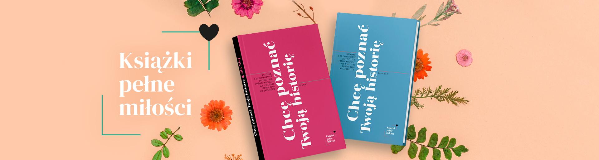 książki dla niej i dla niego - okładki na pomarańczowym tle