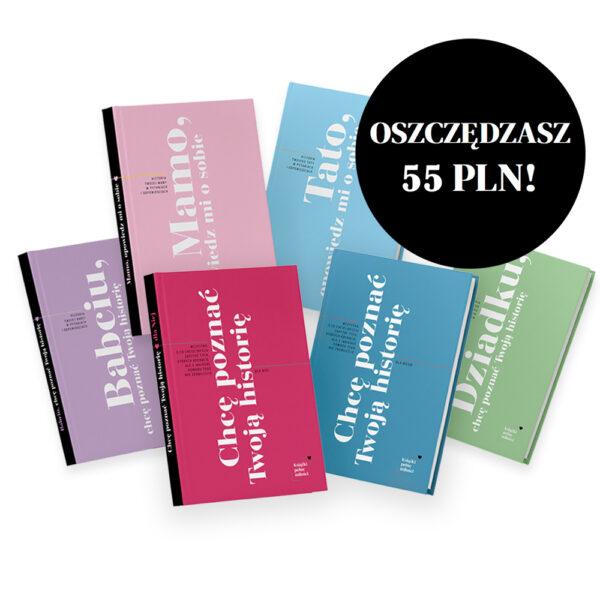 Wizualizacja 6 książek z zestawu - oszczędzasz 55 zł